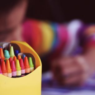 Color Helps a 3-year-old at Daycare