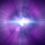 purple light from outer space